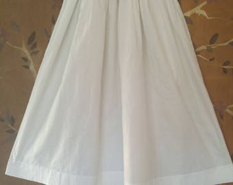 40s white cotton long Christening gown / dress with Broderie Anglaise front and sleeves