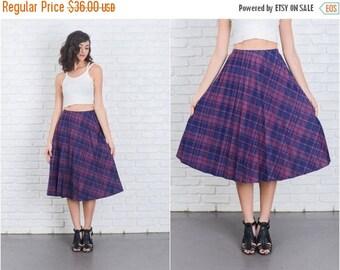 ON SALE Vintage 80s Navy Blue Skirt Accordion Pleated High Waist Large L Plaid 6977 vintage skirt navy blue skirt pleated skirt large skirt