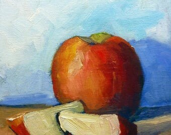 Apple Oil Painting Still Life Original  Fine Art