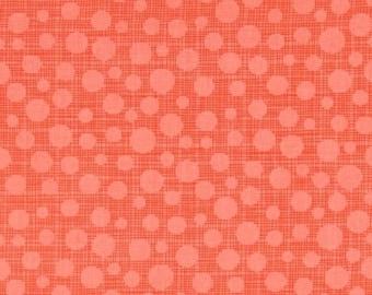 SHOP CLOSING SALE Michael Miller fabric by the yard Hash Dot in Papaya 1 Yard