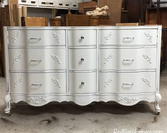 """BATHROOM VANITY Cabinet We Custom Convert from Vintage French Provincial Furniture For You - Remodel - Solid Wood - USA 50"""" to 62"""""""