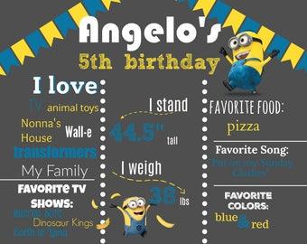 Minions Birthday Board
