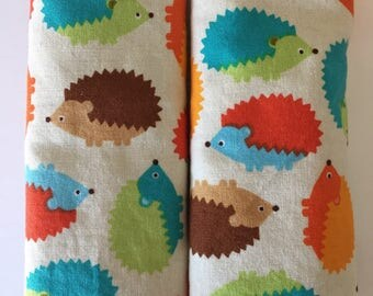 Hedgehogs- Stroller Strap Covers, Car Seat Strap Covers, Reversible Strap Covers