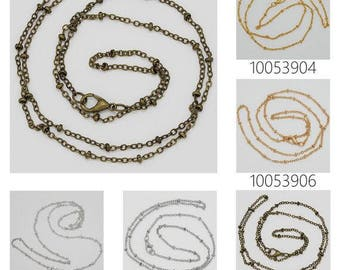 "20PCS 2mm brass Necklace Chain, Finished chain with lobster clasp,Length 24"" 100539"