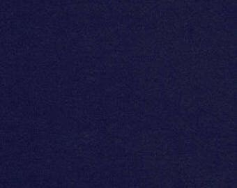 Cotton Lycra Spandex Knit Jersey Navy by the yard 10 oz (349)