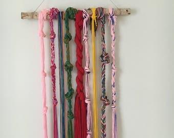 SALE: Bohemian Wall Hanging Boho Chic Macrame Curtain Hanger Hippie Home Decoration Gypsy Decor Yarn Mobile