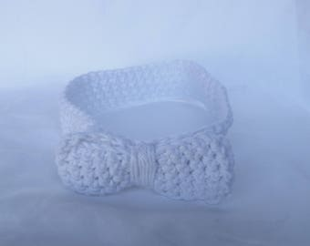 Handmade Knitted Headband - White