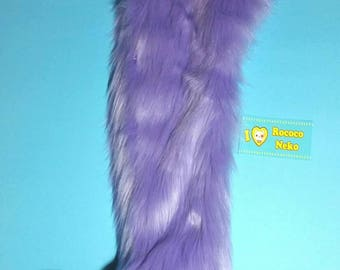 Lavender and black kitten tail