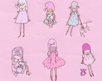 scribbly girls - sticker set