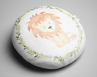 Round Lion Cushion