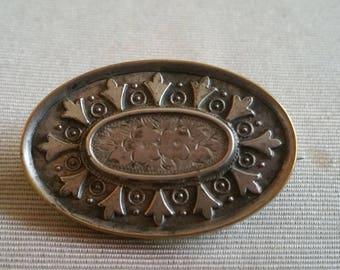 Victorian Ornate Silver Pin