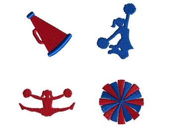 Mini Cheerleader Machine Embroidery Design Set-INSTANT DOWNLOAD