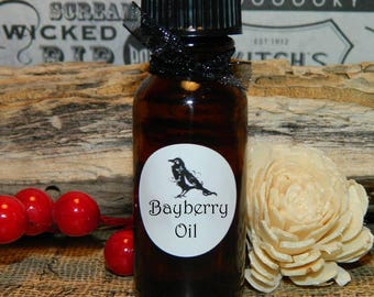 BAYBERRY OIL  .5 (1/2 oz)   Can be used to anoint candles, or mixed with casting herbs