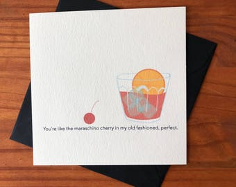 Greeting Card / Old Fashioned - Anniversary, Thinking of you, BFF, I love you, Valentines Day