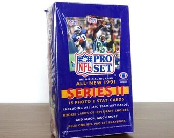 1991 NFL Pro Set Unopened Box Series II 36 Wax Packs