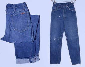 1950s Redline Denim Ranchcraft Distressed JC Pennys Work Jeans 27 x 29