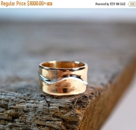 ON SALE Mens Wedding Band - Mens Wedding Ring - Mens Gold Wedding Band - Mens Gold Wedding Ring - Mens Rings