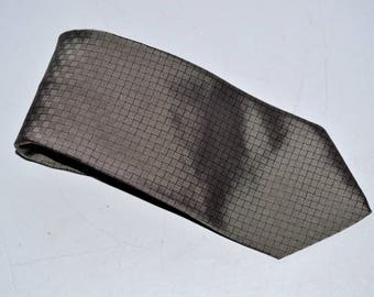 Vintage 90s designer Broooks Brothers makers 100% Silk  tie gray black checkers Necktie mens classic gift made in USA Father's Day