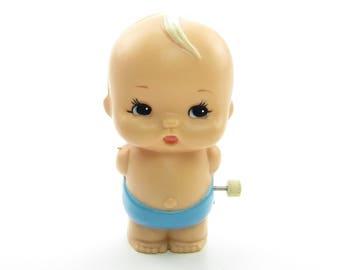 Wind-Up Baby Boy Vintage Tomy 1977 Walking Kid-a-Longs or Kid-A-Long Kids