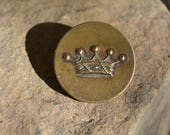 Rare Antique Livery Buttons, Vintage French Crown Button, Vintage Supplies