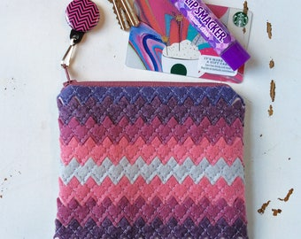 Small Jewelry Case Travel Jewelry Case Cosmetic Case Jewelry Organizer Travel Accessories Jewelry Clutch Travel Organizer Purple Chevron Bag