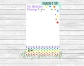 Rainbow Time Capsule notecards simple, INSTANT download, printable cards