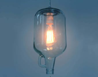 Pendant light, Wine Jug. Edison.