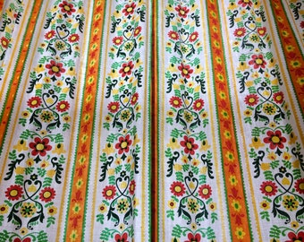 Vintage House N Home Curtains Colorful Scandinavian Floral Design