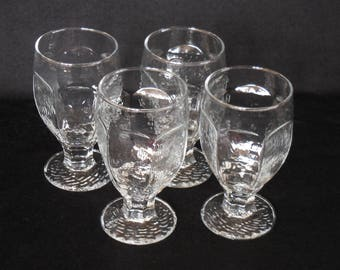 Libbey Clear Chivalry Water Goblets, Banquet Glasses