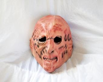 90s Freddy Krueger mask - Vintage Nightmare on Elm Street costume - Rubies Fred Elm St