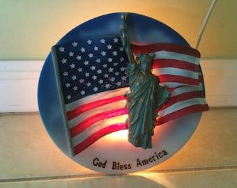 God Bless America Night Light / Lamp / TV Night Light