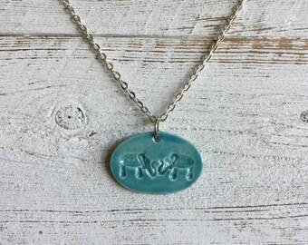 Elephant Pendant, Ceramic, Boho, Zen, Unique Gift, Gift Ideas, Elephant Jewelry, Ceramic Jewelry, Ceramic Pendant
