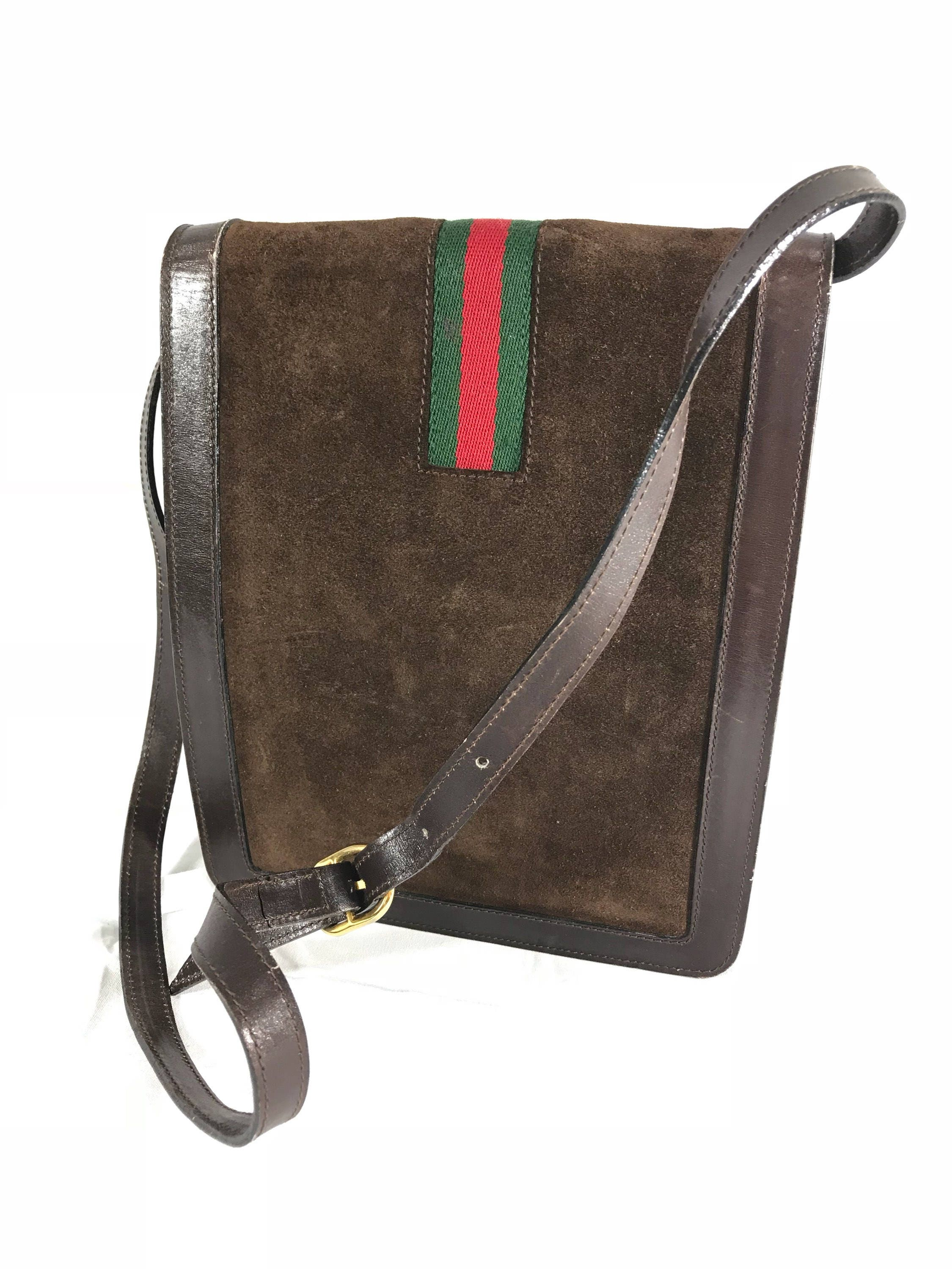f9c308e04a04 Gucci Handbags Red Green White Made Italy. Authentic GUCCI Black Red Green  Leather Shoulder Bag ...