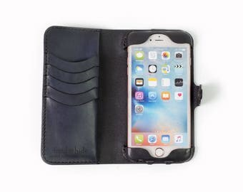 iPhone 6 Plus Leather Wallet Case / iPhone 6 Plus Case / Leather iPhone case / iPhone 6 Plus wallet / leather phone case / ready to ship