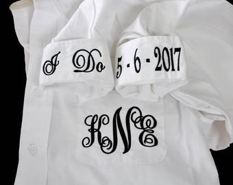 Bride Oxford Shirt, Getting Ready Shirt, Button Down Bride Shirt, Wedding Day Shirt, Personalized Bride Shirt, I Do Shirt, Monogrammed Shirt