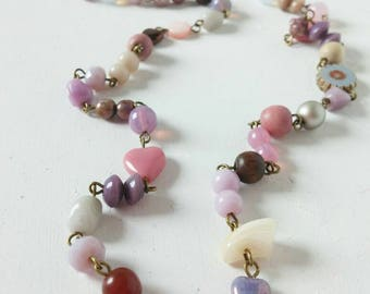 a beautiful coloured beaded boho style necklace...
