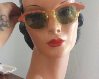 1950s red confetti sunglasses