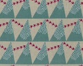 KOKKA ECHINO - Etsuko Furuya - Hill Birds Linen Canvas - Metallic