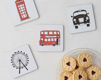 London Skyline Coaster - Set of 4