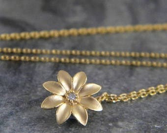 SALE Gold Flower Choker Necklace