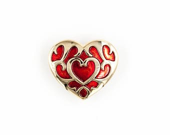 Legend of Zelda Breath of the Wild Heart Pin / Valentine's Day Pin / Heart Pin / Zelda Heart Pin / Heart Jewelry