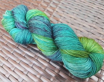 My Friend the Goblin: 100g hand dyed merino/nylon sock yarn