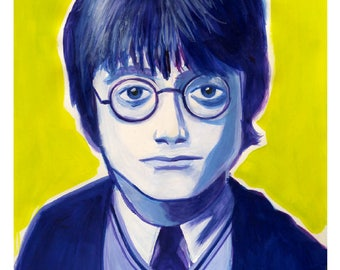 Harry Potter PRINT of an acrylic painting done on paper