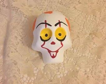 """Medium 3-D Plaster Day Of The Dead Dia De Los Muertos Sugar Skull """"It"""""""