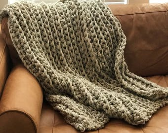 Wool Crocheted Blanket / Valentines Day Gift