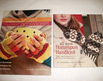 Knitter's Bible Knitted Accessories and all new Homespun Handknits..Knitting Pattern Books..Interweave..Gloves..Hats..Shawls..Wraps..Ponchos