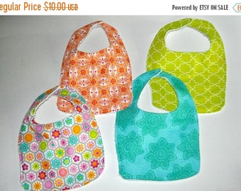 ON SALE 4 Baby bibs, Pink Baby bibs, floral baby bibs, flower Bibs, Rainbow baby bibs, Baby girl bibs, Baby shower gifts, Boutique baby bibs