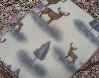 Elk/Deer Crocheted Fleece Blanket