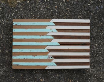 "daydreaming: 12x8"" reclaimed wood mosaic wall hanging"
