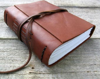 """Leather journal,""""Go confidently in the direction of your dreams! Live the life you have imagined,"""" Thoreau quote / 320 pages"""